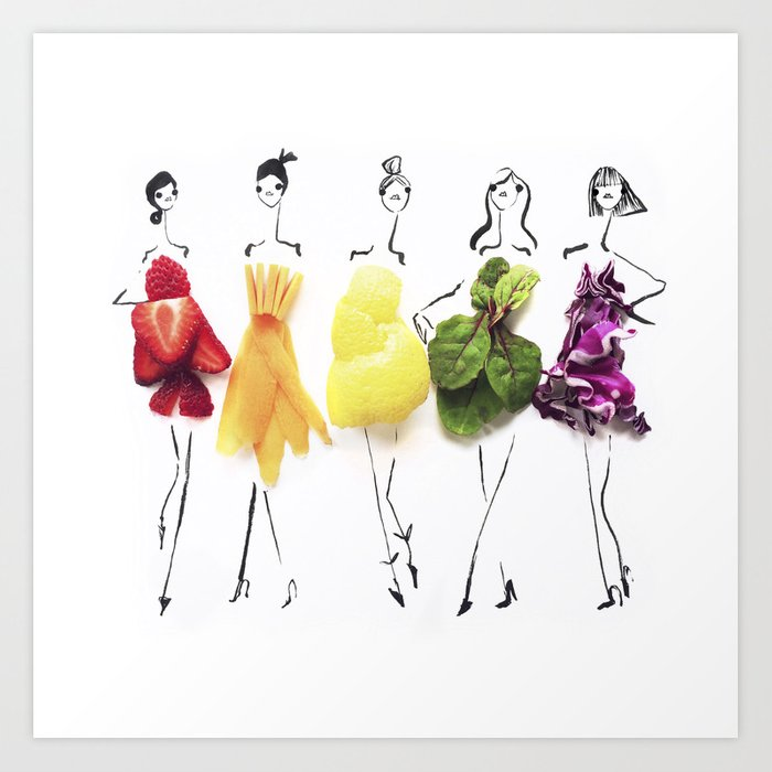 Edible Ensembles: Rainbow Art Print