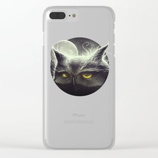 Owl & The Moon Clear iPhone Case