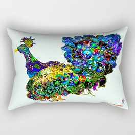 Peacock Brilliant 1 Rectangular Pillow