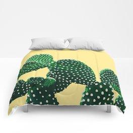 Prickly Plant ( yellow ) Comforters