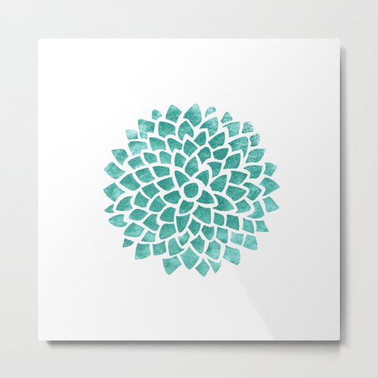 Teal Ice Metal Print By Color And Form