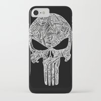 punisher iPhone & iPod Cases featuring Punisher  by christoph_loves_drawing