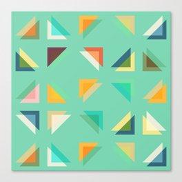 Geometric Mint Canvas Print