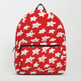 Stars on red background Backpack