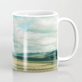 The field   Modern train landscape photography Coffee Mug