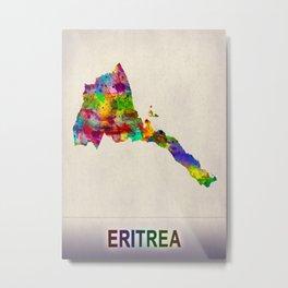 Eritrea Map in Watercolor Metal Print