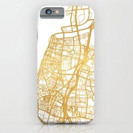 TEL AVIV ISRAEL CITY STREET MAP ART iPhone Case
