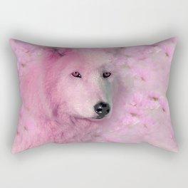 PINK WOLF FLOWER SPARKLE Rectangular Pillow