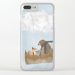 the cloud balloon Clear iPhone Case