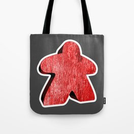 Giant Red Meeple Tote Bag