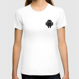 Small black Android robot T-shirt