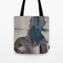 What does the world look like without anxiety and fear? Tote Bag