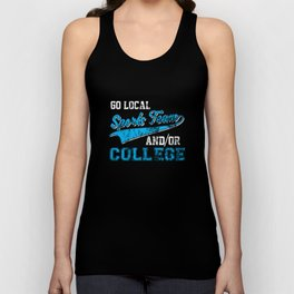 Go Local Sports Team And/Or College Distressed Unisex Tank Top