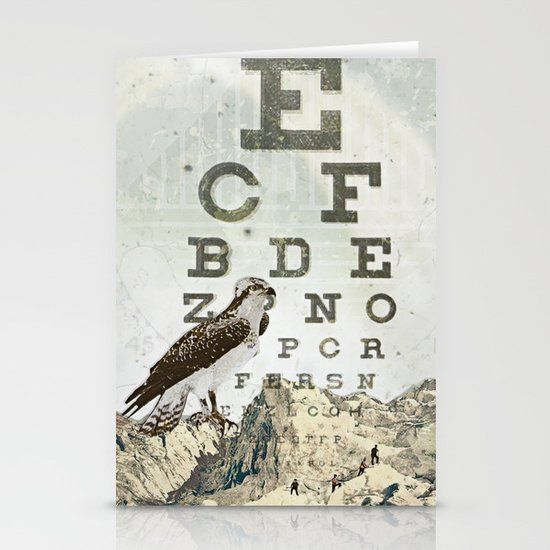 eye chart II Stationery Cards