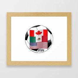 United Hosting 2026 Soccer Championship Football Fan Logo Framed Art Print