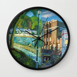West Bend Park Painting Wall Clock