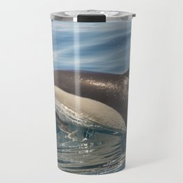 Dolphin taking a breath Travel Mug