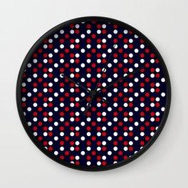 Red Poá Wall Clock