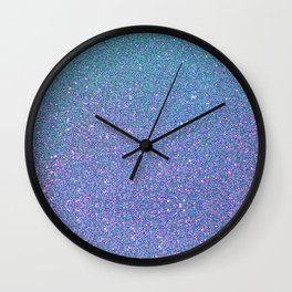 BLUE GLITTER Wall Clock
