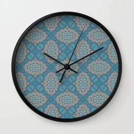 Tribal Tile Blue Wall Clock