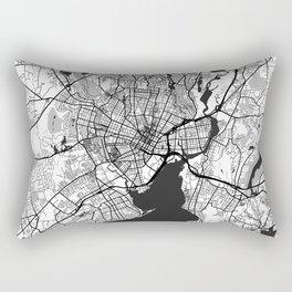 New Haven Map Gray Rectangular Pillow