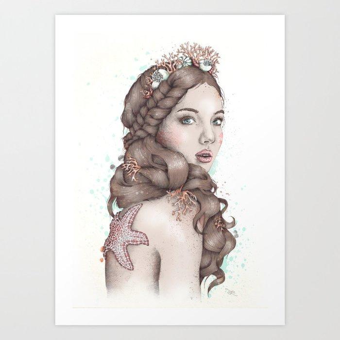 Forgotten Mermaid Art Print