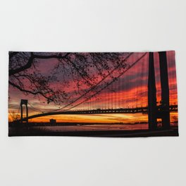 Sunrise at the Bridge Beach Towel