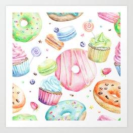 Sweets Pattern Art Print