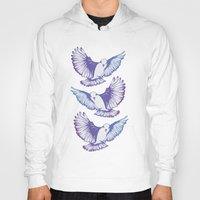 wings Hoodies featuring Wings by Kellie Jerrard