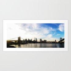 New York City Bridges Art Print