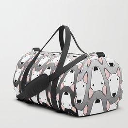 Bully gridlock grey gradient Duffle Bag