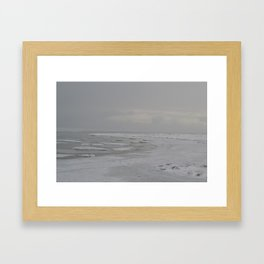 Lake Michigan Ice Framed Art Print