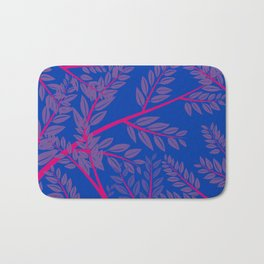 Bisexual Pride Overlapping Simple Leafy Branches Bath Mat