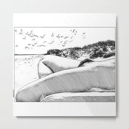 asc 967 - La plage de Draguey (Liberation on the beach) Metal Print