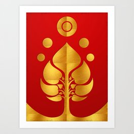 Bodhi Tree0301_GoldenDAY Art Print