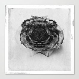 theDog | Death O´Flowers Canvas Print