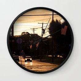 Small Town Spirit  Wall Clock