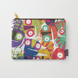 Colored lizards Carry-All Pouch