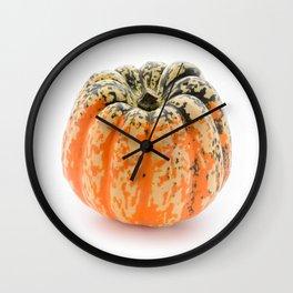 Single pumpkin Wall Clock