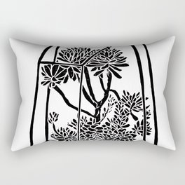 Terrarium Block Print Rectangular Pillow