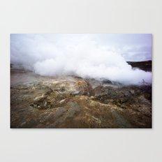 geothermal steam Canvas Print