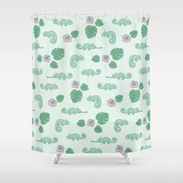 Remi the Chameleon Shower Curtain