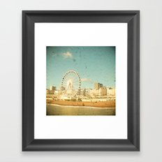 Brighton Wheel Framed Art Print
