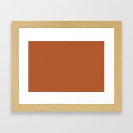 Copper #B2592D Framed Art Print
