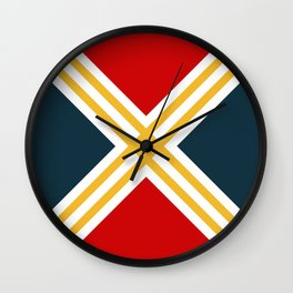 Nautical geometry 3 Wall Clock