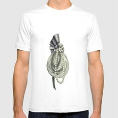 Pearly Lacyness Mens Fitted Tee White MEDIUM
