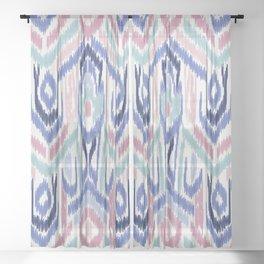 Ikat Ikat Pastel Wandering Sheer Curtain