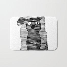 Cute puppy. Bath Mat