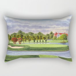 East Lake Golf Course Atlanta GA 15th Hole Rectangular Pillow