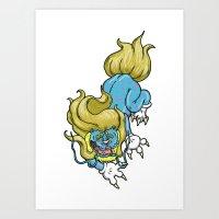 Cartoon tattoo foo-dog Art Print